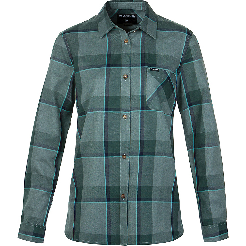 DAKINE Womens Canterbury Flannel Shirt M - Balsam Green - DAKINE Womens Apparel - Apparel & Footwear, Women's Apparel