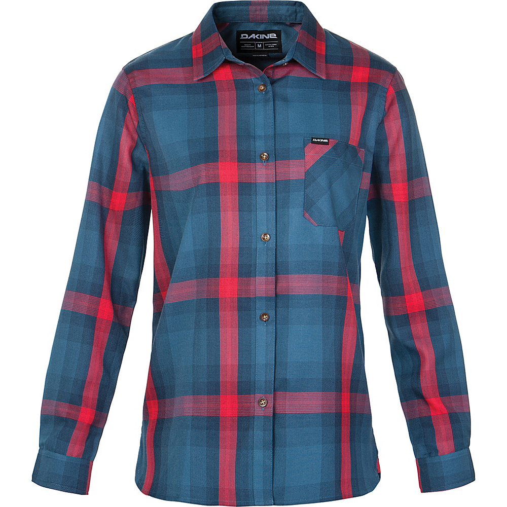 DAKINE Womens Canterbury Flannel Shirt XS - Chill Blue - DAKINE Womens Apparel - Apparel & Footwear, Women's Apparel
