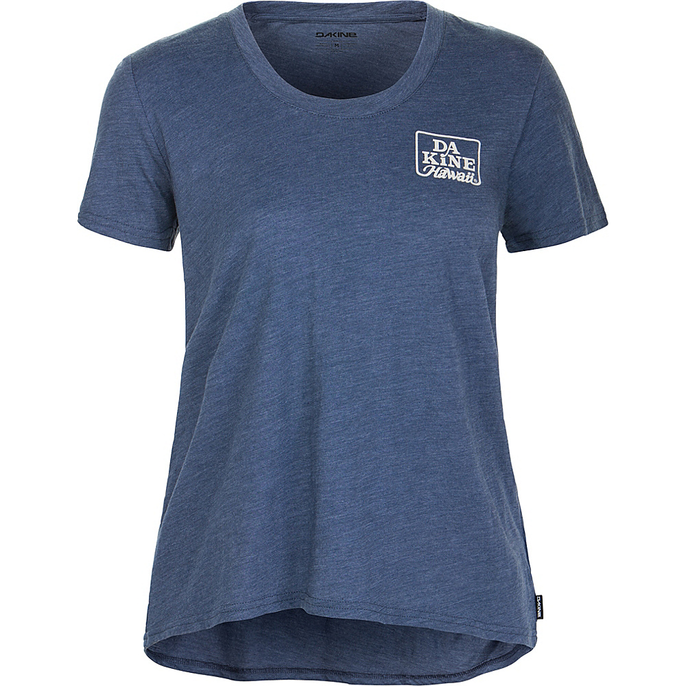 DAKINE Womens Makena II Short Sleeve T-Shirt L - Crown Blue - DAKINE Womens Apparel - Apparel & Footwear, Women's Apparel
