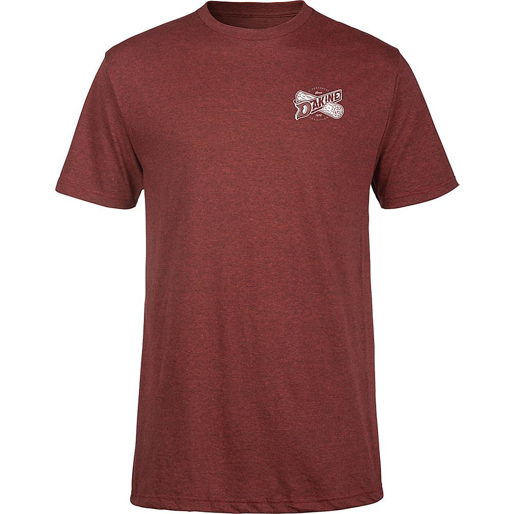 DAKINE Mens Crosscut T-Shirt M - Brick Black Heather - DAKINE Mens Apparel - Apparel & Footwear, Men's Apparel