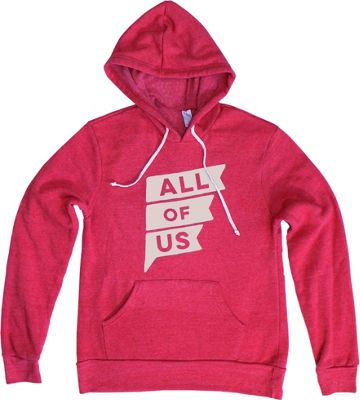 All of Us Mens Flag Hoodie XL - Eco True Red - All of Us Men's Apparel