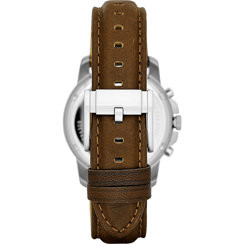 Fossil Grant Chronograph Brown Leather Watch Brown - Fossil Watches - Fashion Accessories, Watches
