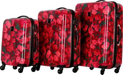 Isaac Mizrahi Irwin 3 Piece Hardside Spinner Luggage Set Berry - Isaac Mizrahi Luggage Sets