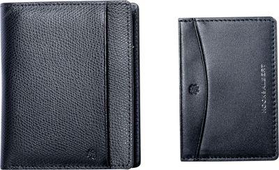 Hook & Albert Leather Bi-Fold Wallet with Removable Card Holder Black - Hook & Albert Men's Wallets