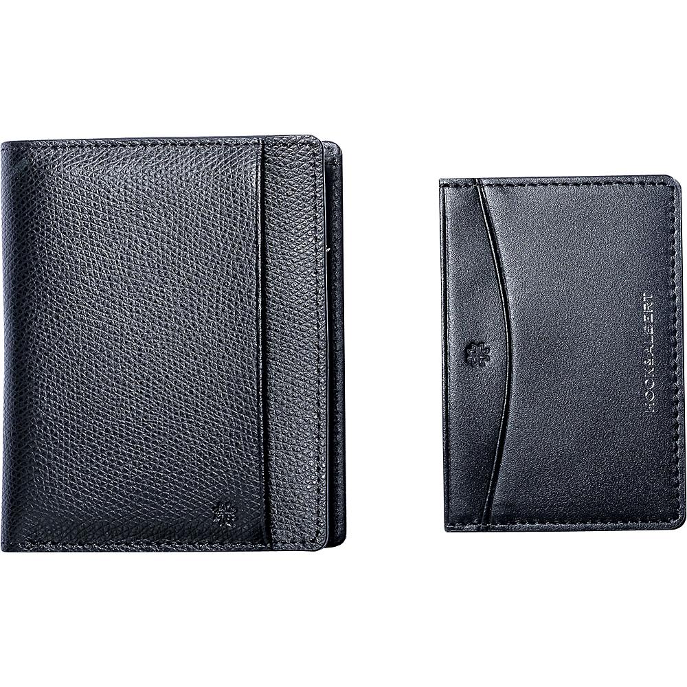 Hook & Albert Leather Bi Fold Wallet With Removable Card Holder Black Hook & Albert Men's Wallets
