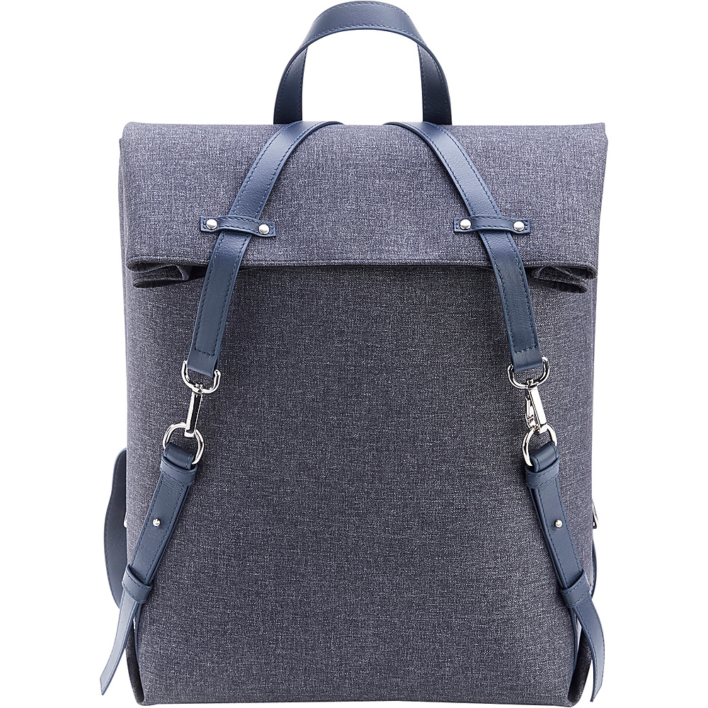 Royce Leather Leather Flannel Mixed Media Backpack Grey - Royce Leather Everyday Backpacks - Backpacks, Everyday Backpacks