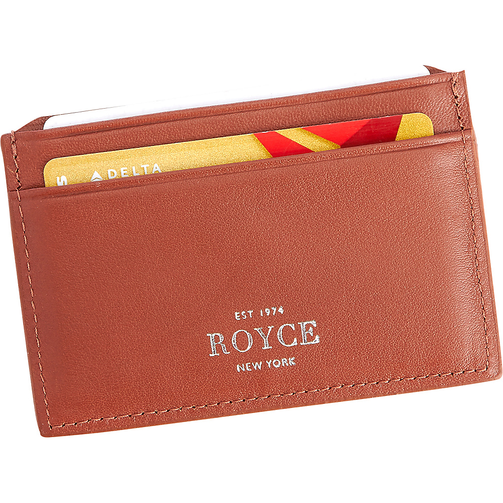 Royce Leather RFID Blocking Executive Credit Card Case Tan - Royce Leather Business Accessories - Work Bags & Briefcases, Business Accessories