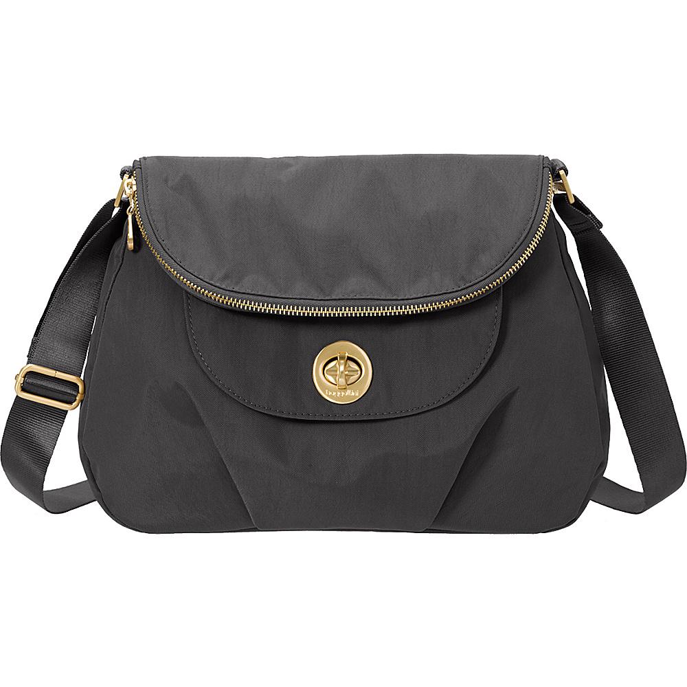 baggallini Kuala Flap Zip Hobo Charcoal - baggallini Fabric Handbags - Handbags, Fabric Handbags