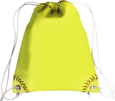 Zumer Softball Drawstring Bag Softball yellow - Zumer Everyday Backpacks