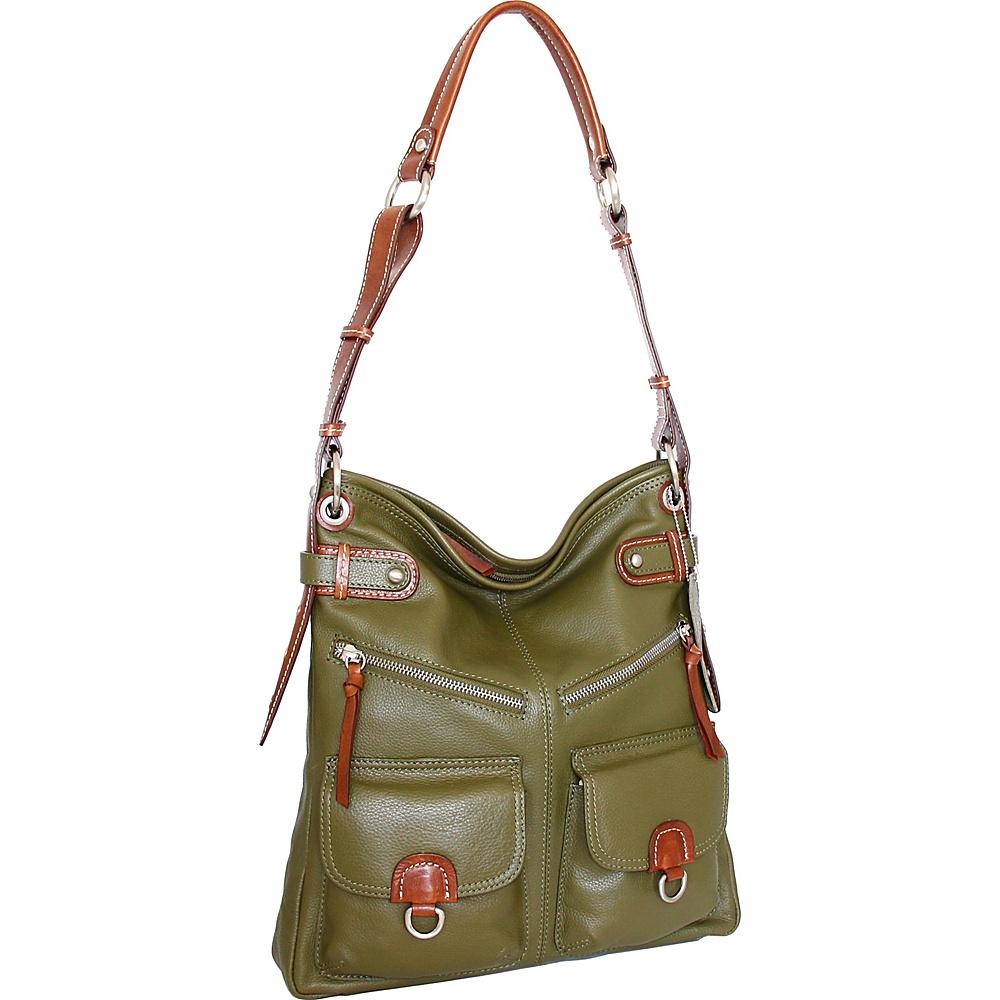 Nino Bossi Echo Shoulder Bag Loden - Nino Bossi Leather Handbags - Handbags, Leather Handbags