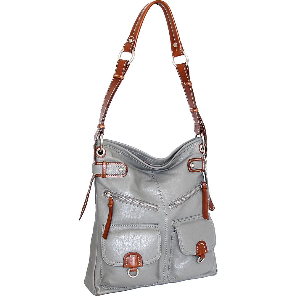 Nino Bossi Echo Shoulder Bag Stone - Nino Bossi Leather Handbags - Handbags, Leather Handbags