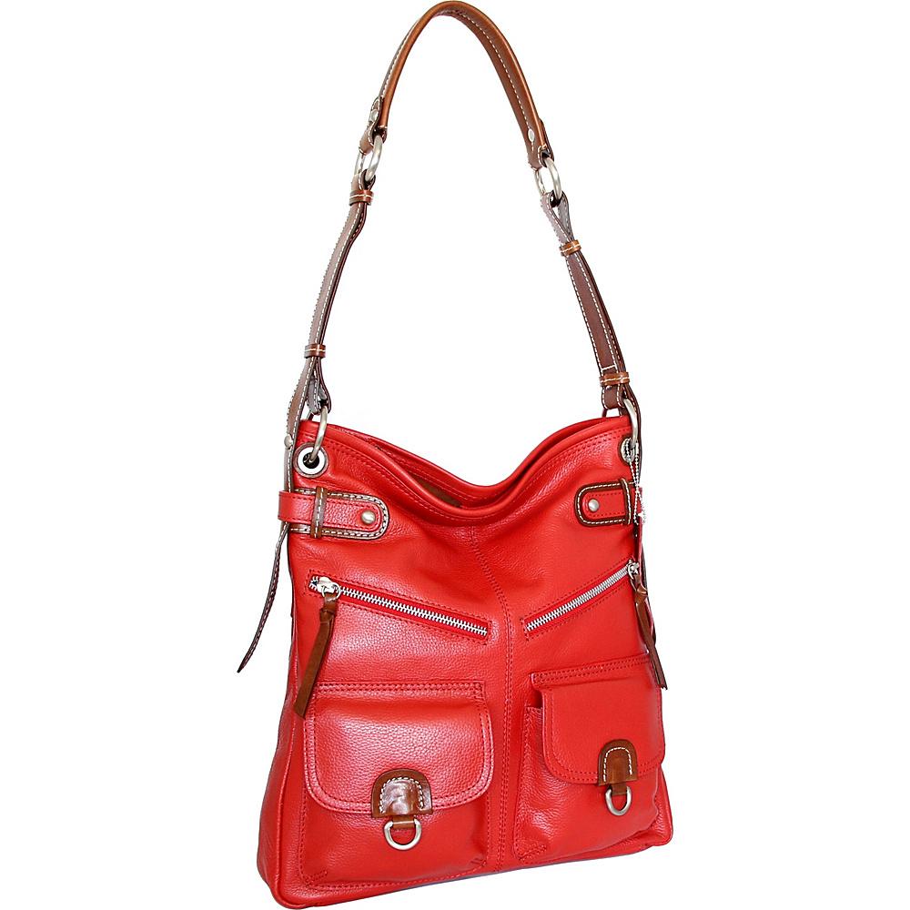 Nino Bossi Echo Shoulder Bag Crimson - Nino Bossi Leather Handbags - Handbags, Leather Handbags
