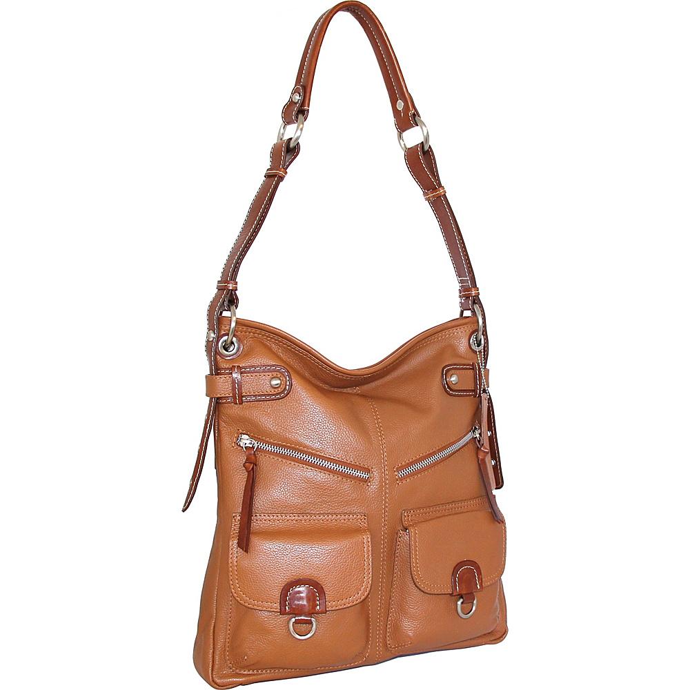 Nino Bossi Echo Shoulder Bag Cognac - Nino Bossi Leather Handbags - Handbags, Leather Handbags