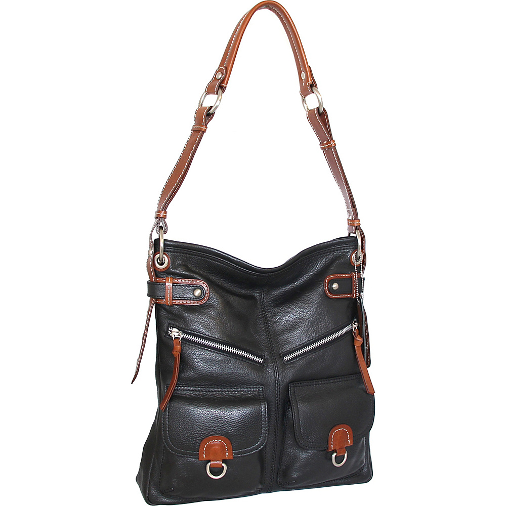 Nino Bossi Echo Shoulder Bag Black - Nino Bossi Leather Handbags - Handbags, Leather Handbags