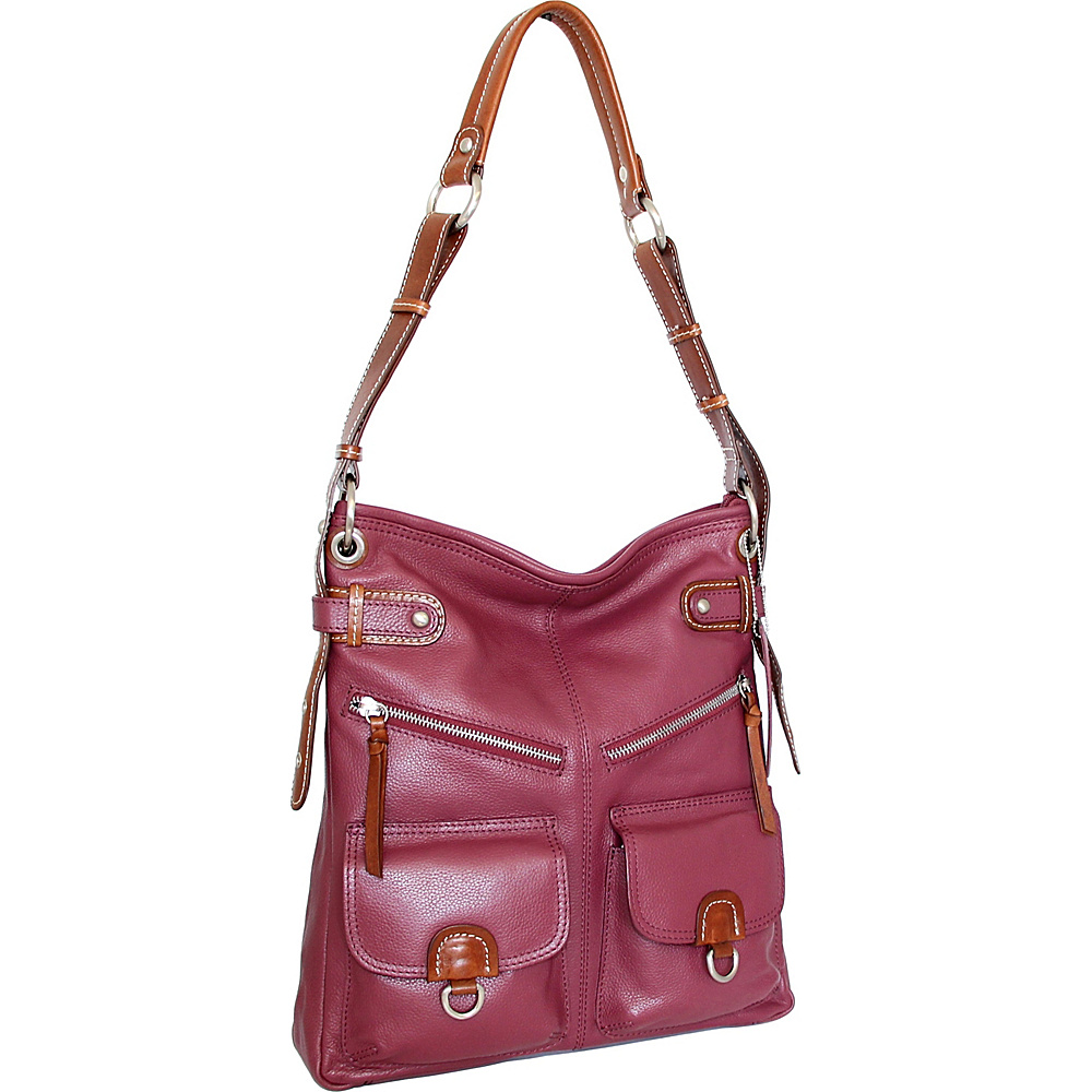 Nino Bossi Echo Shoulder Bag Merlot - Nino Bossi Leather Handbags - Handbags, Leather Handbags