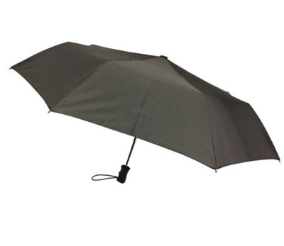 London Fog Umbrellas Mini Auto Open Close Umbrella Black - London Fog Umbrellas Umbrellas and Rain Gear