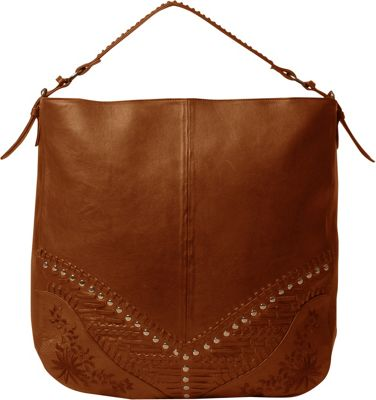 Day & Mood Oak Detail Hobo Cognac - Day & Mood Leather Handbags