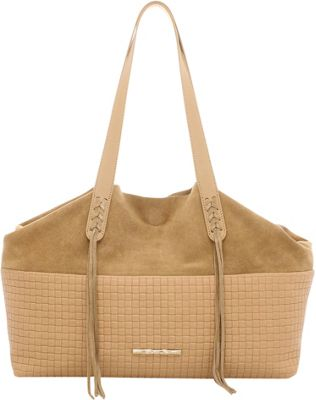 Elaine Turner Sandy Shoulder Bag Taupe Woven Emboss - Elaine Turner Designer Handbags