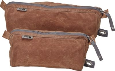 aTana Bags Stowe Toiletry Kit 9 inch Brush Brown with Gray Topo - aTana Bags Travel Organizers