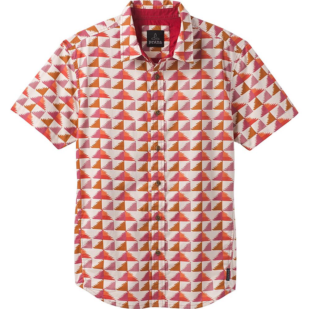 PrAna Graden Short Sleeve Shirt M - Harvest Orange - PrAna Mens Apparel - Apparel & Footwear, Men's Apparel
