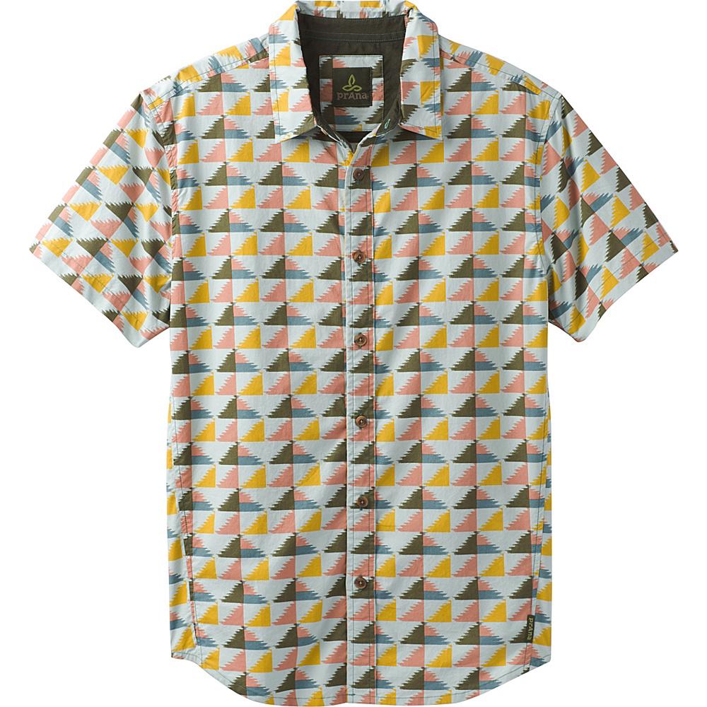 PrAna Graden Short Sleeve Shirt M - Seaside Grey - PrAna Mens Apparel - Apparel & Footwear, Men's Apparel