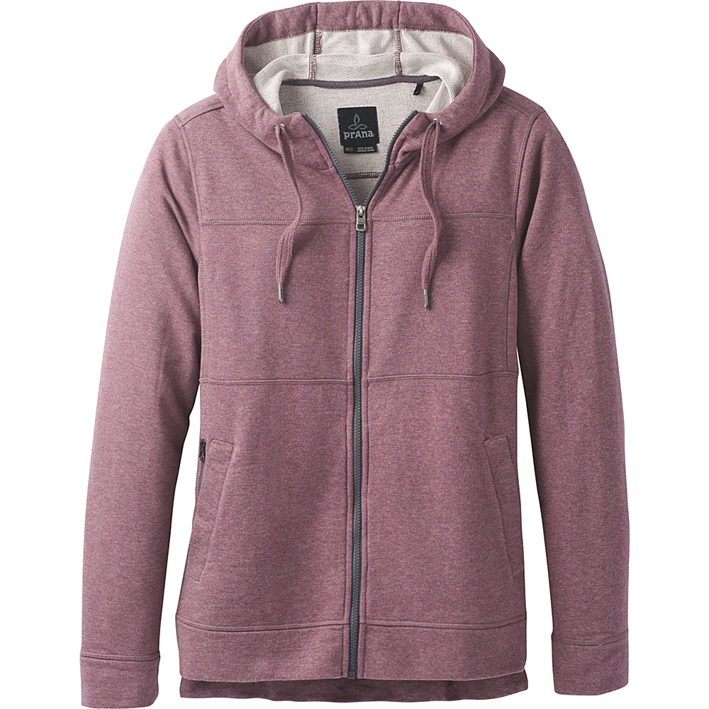 PrAna Travis Full Zip Hoodie M - Thistle - PrAna Mens Apparel - Apparel & Footwear, Men's Apparel