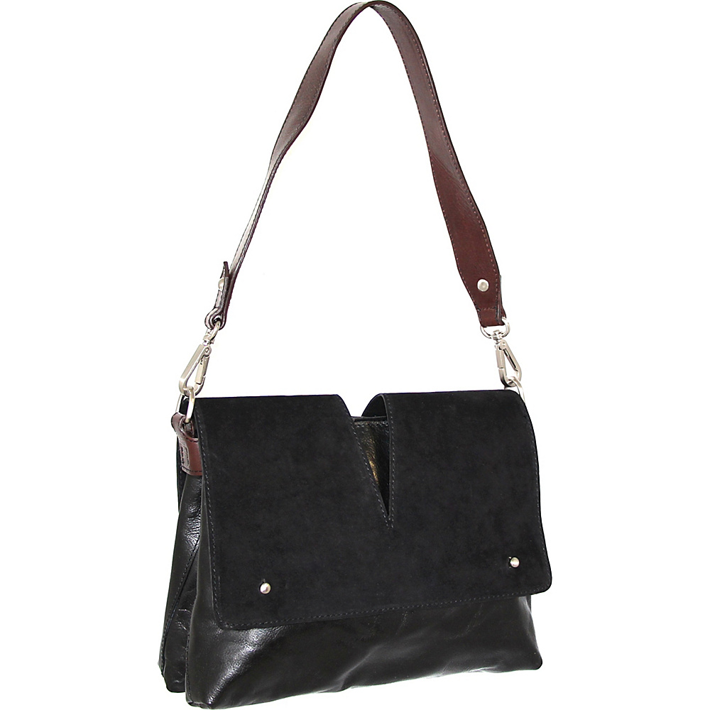 Nino Bossi Zaira Shoulder Bag Black - Nino Bossi Leather Handbags - Handbags, Leather Handbags