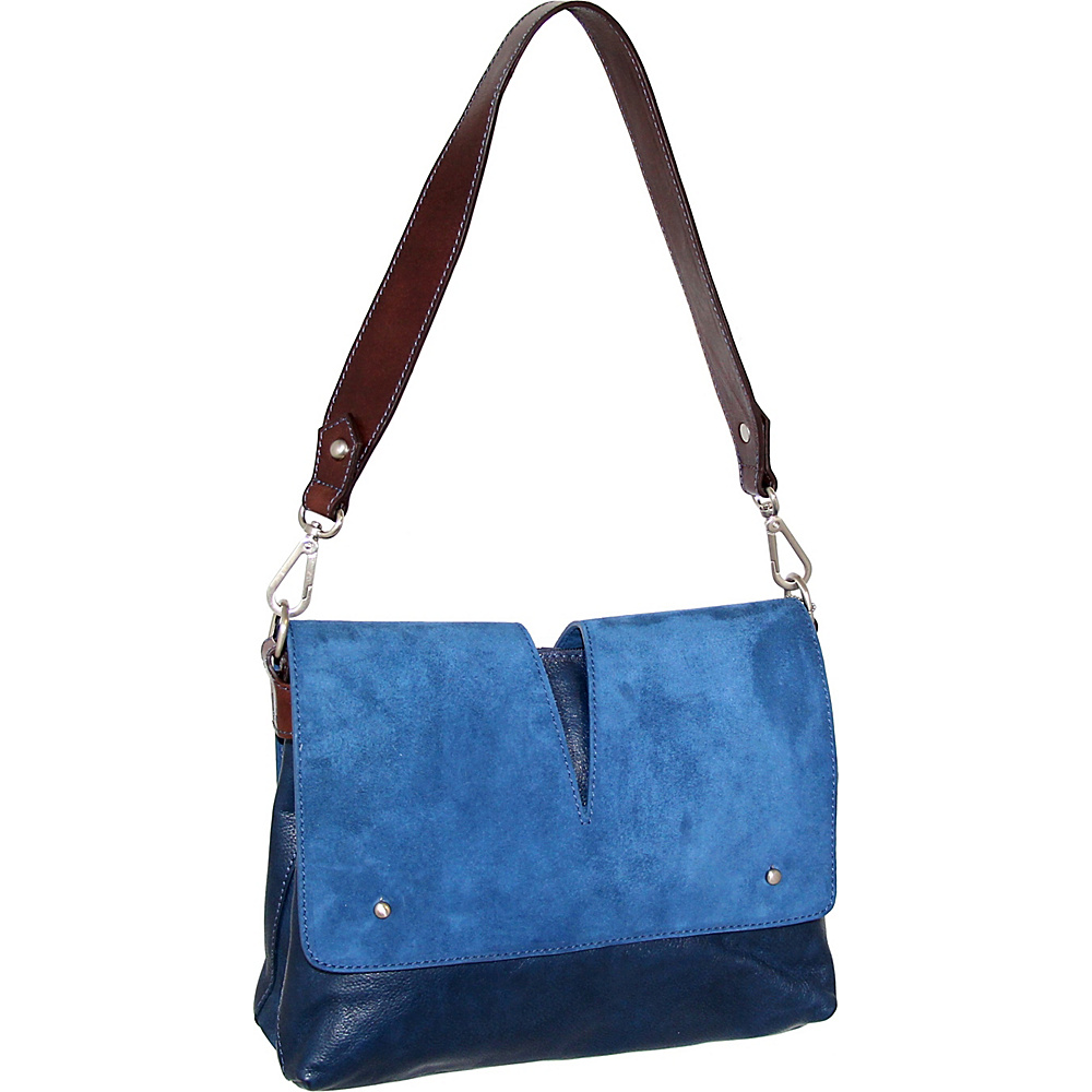 Nino Bossi Zaira Shoulder Bag Blue - Nino Bossi Leather Handbags - Handbags, Leather Handbags