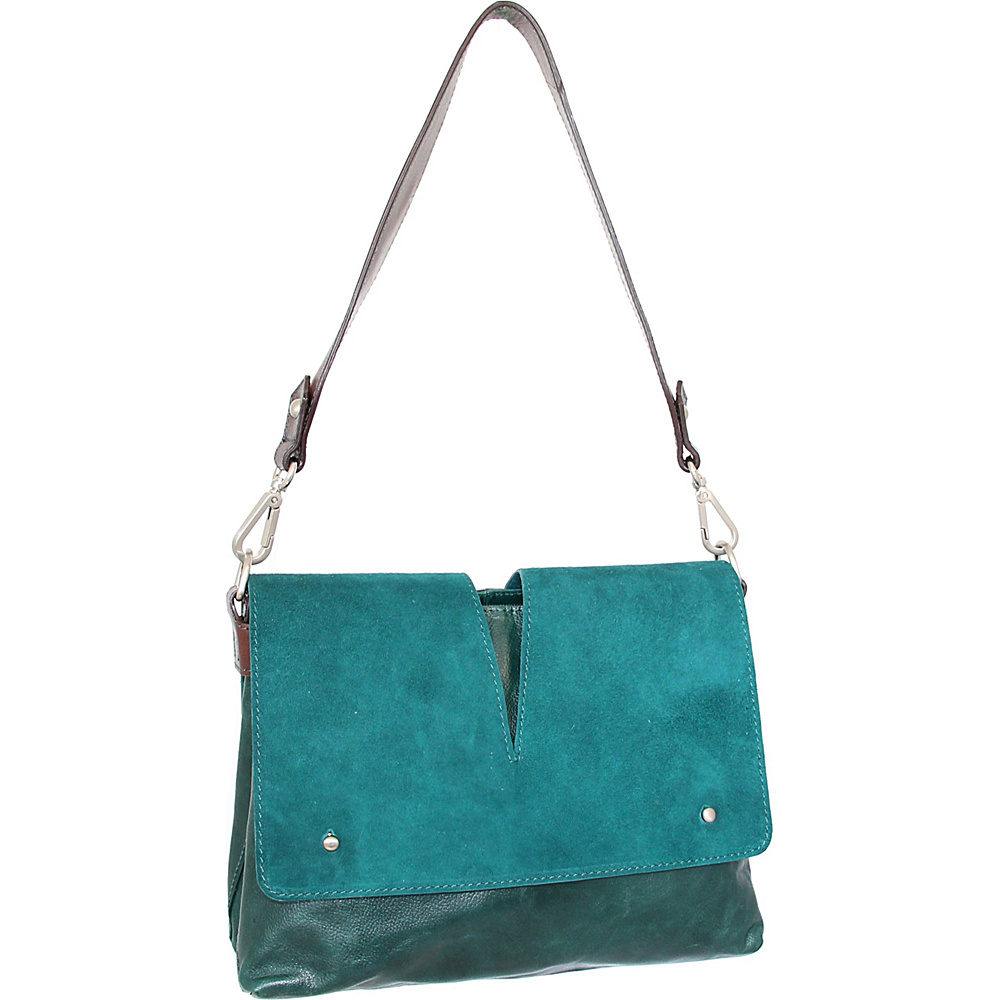 Nino Bossi Zaira Shoulder Bag Green - Nino Bossi Leather Handbags - Handbags, Leather Handbags