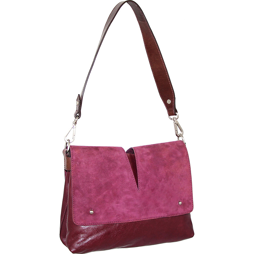 Nino Bossi Zaira Shoulder Bag Plum - Nino Bossi Leather Handbags - Handbags, Leather Handbags