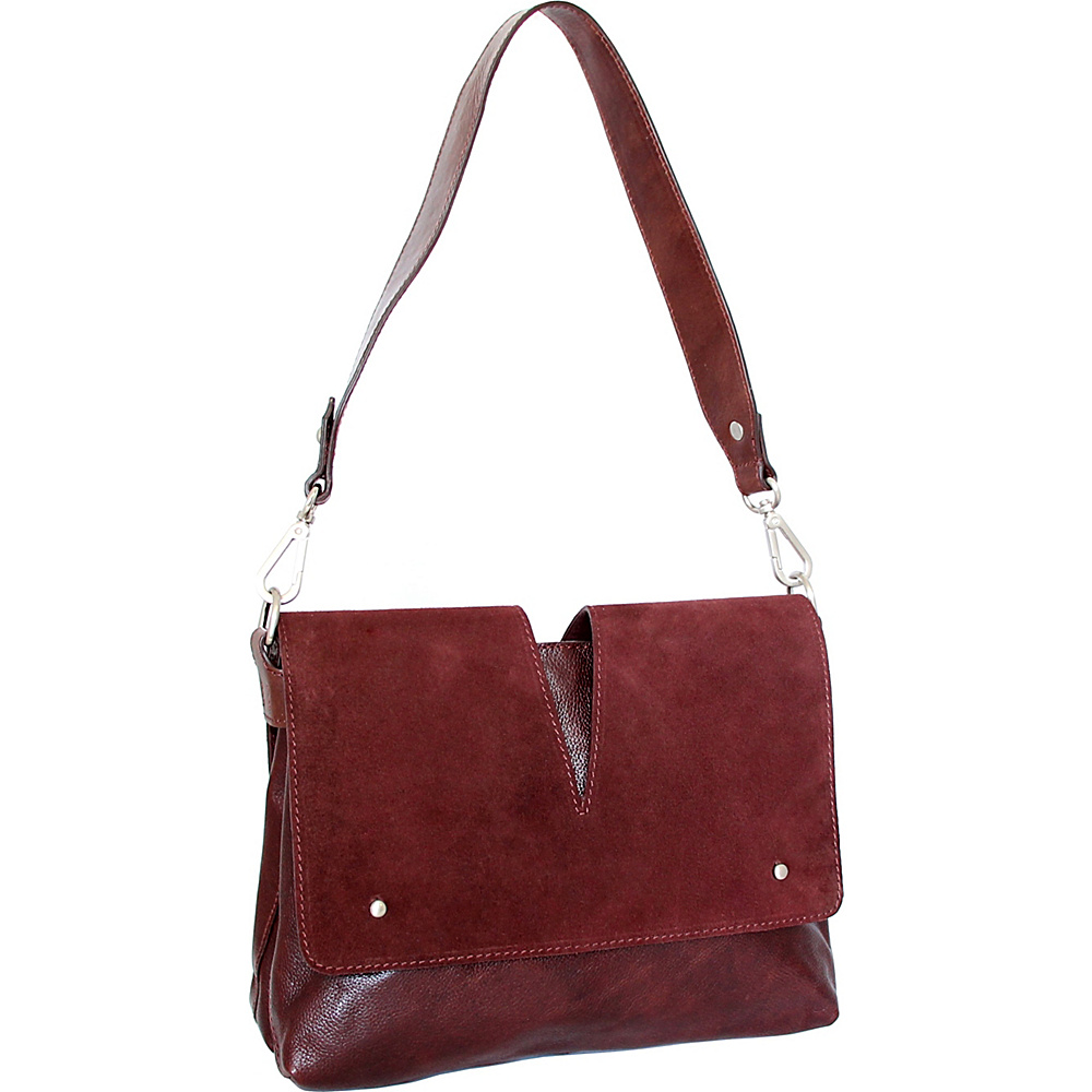 Nino Bossi Zaira Shoulder Bag Walnut - Nino Bossi Leather Handbags - Handbags, Leather Handbags