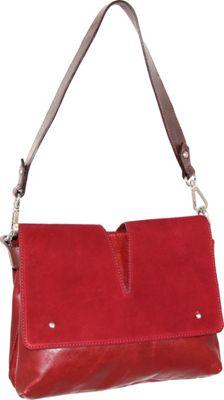 Nino Bossi Zaira Shoulder Bag Red - Nino Bossi Leather Handbags