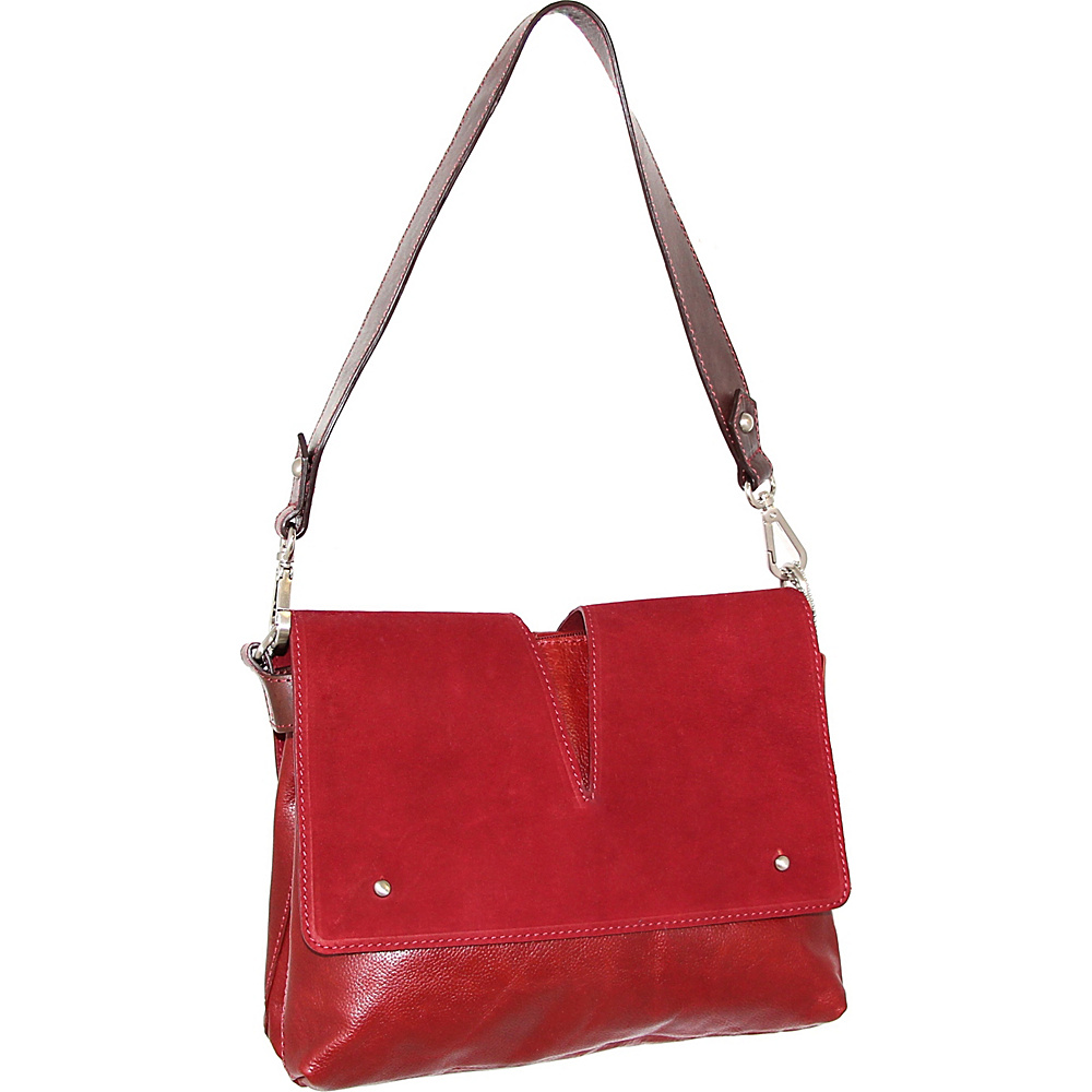 Nino Bossi Zaira Shoulder Bag Red - Nino Bossi Leather Handbags - Handbags, Leather Handbags