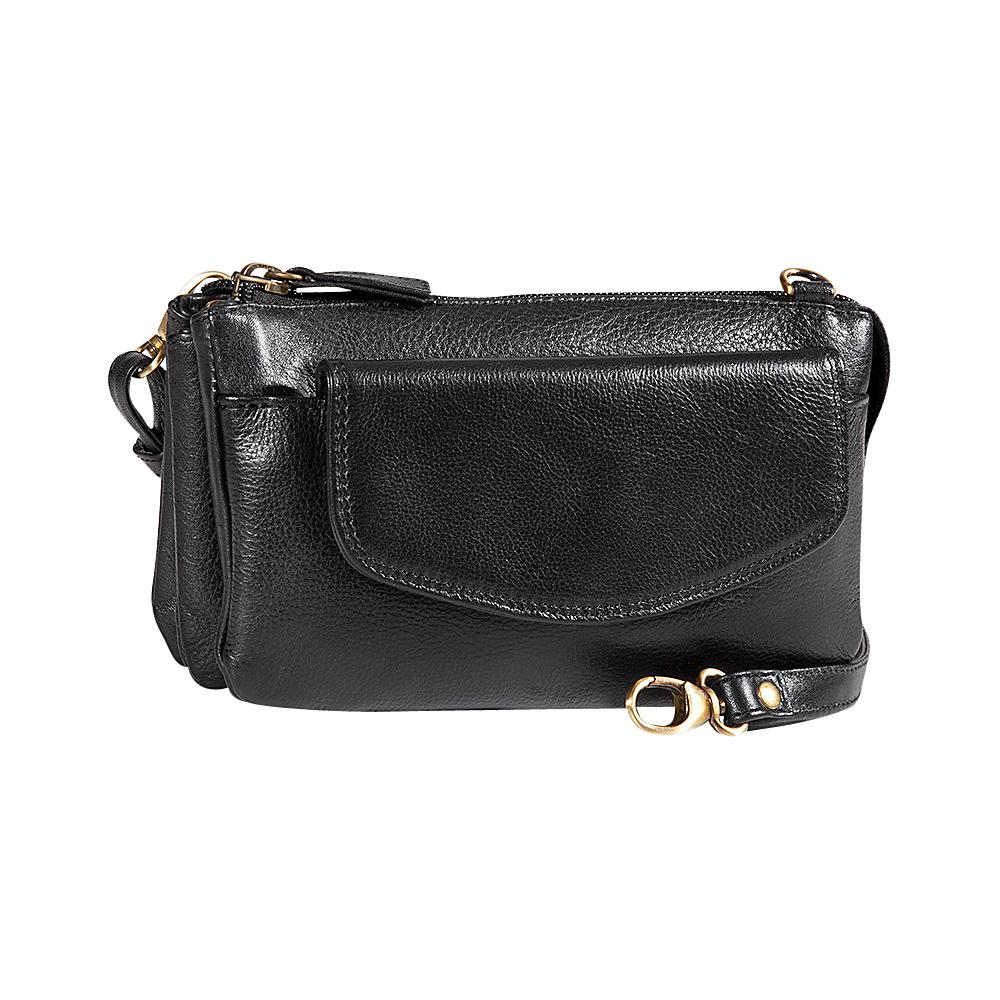 Derek Alexander Deluxe Top Zip Mini Bag/Clutch Black - Derek Alexander Evening Bags - Handbags, Evening Bags
