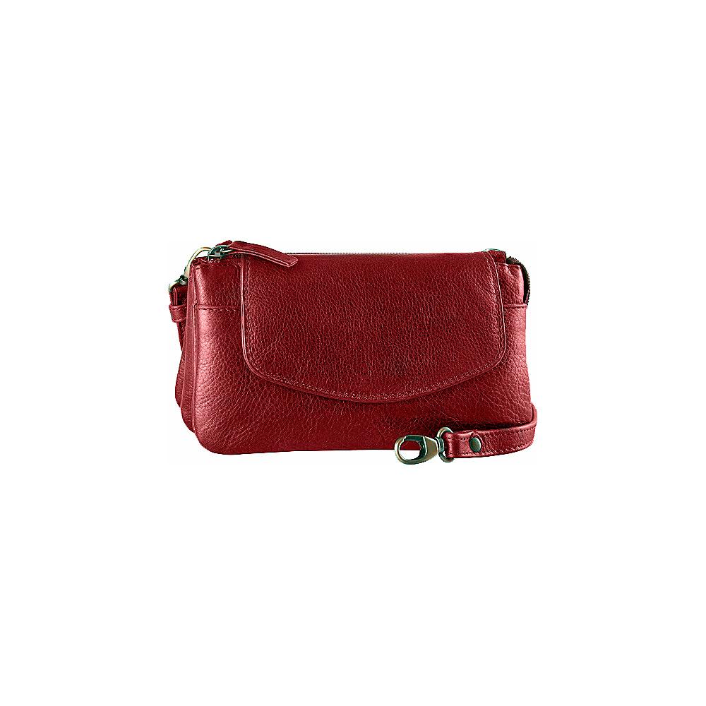 Derek Alexander Deluxe Top Zip Mini Bag/Clutch Whisky - Derek Alexander Evening Bags - Handbags, Evening Bags