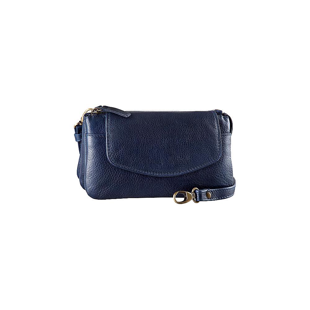 Derek Alexander Deluxe Top Zip Mini Bag/Clutch Navy - Derek Alexander Evening Bags - Handbags, Evening Bags