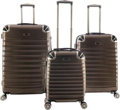 Gabbiano Vintage 3 Piece Hardside Spinner Luggage Set Champagne - Gabbiano Luggage Sets