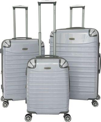 Gabbiano Vintage 3 Piece Hardside Spinner Luggage Set White - Gabbiano Luggage Sets
