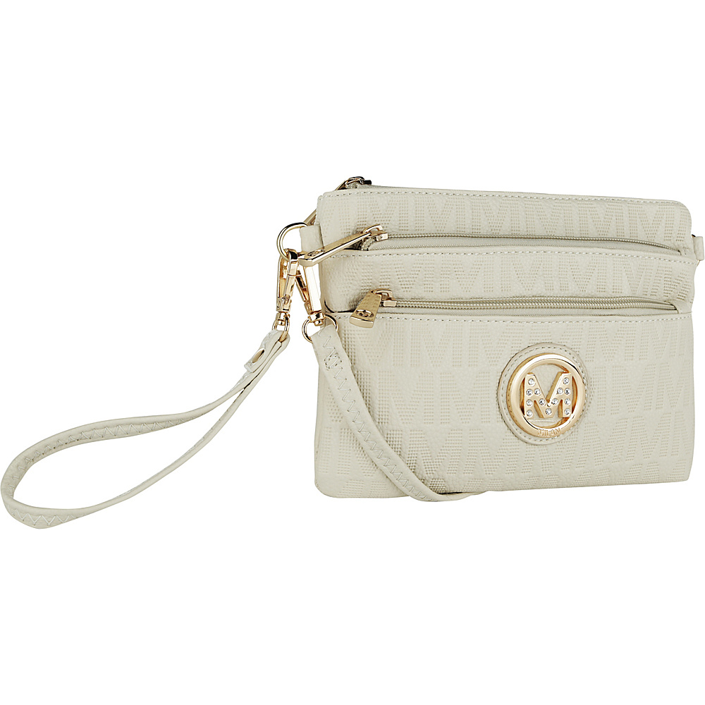 MKF Collection by Mia K. Farrow Sarai Crossbody Wristlet Beige - MKF Collection by Mia K. Farrow Manmade Handbags - Handbags, Manmade Handbags