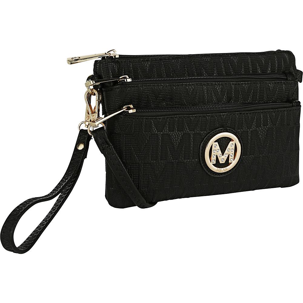 MKF Collection by Mia K. Farrow Sarai Crossbody Wristlet Black - MKF Collection by Mia K. Farrow Manmade Handbags - Handbags, Manmade Handbags