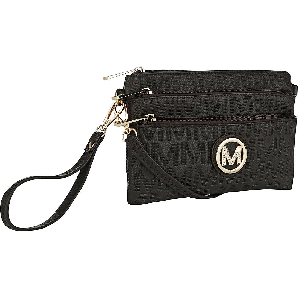 MKF Collection by Mia K. Farrow Sarai Crossbody Wristlet Chocolate - MKF Collection by Mia K. Farrow Manmade Handbags - Handbags, Manmade Handbags