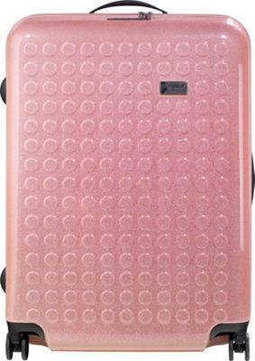 Dot Drops Chapter 3 29 inch Hardside Checked Spinner Luggage Pink - Dot Drops Hardside Checked