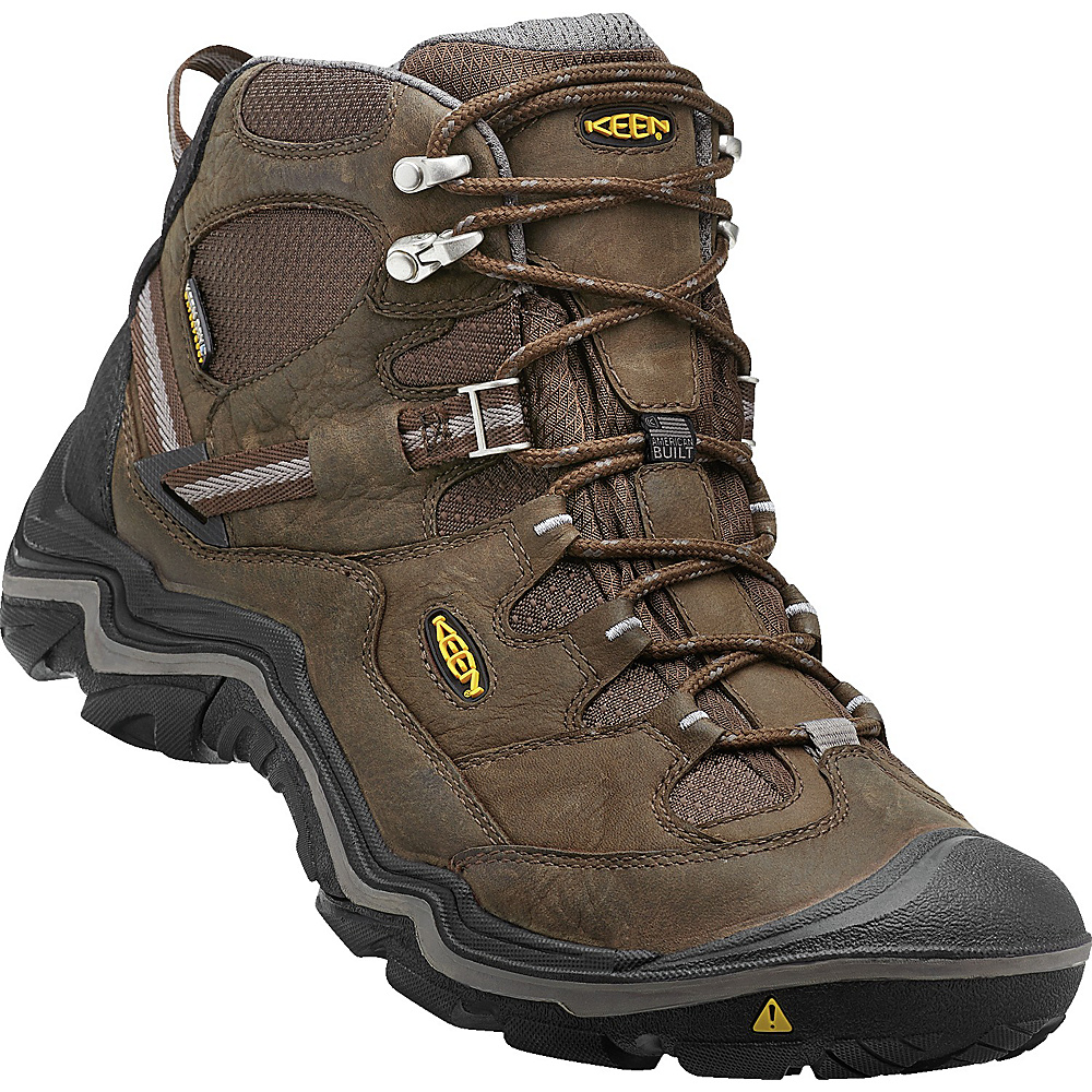 KEEN Mens Durand Mid WP Hiking Boot 11.5 - Cascade Brown/Gargoyle - KEEN Mens Footwear - Apparel & Footwear, Men's Footwear