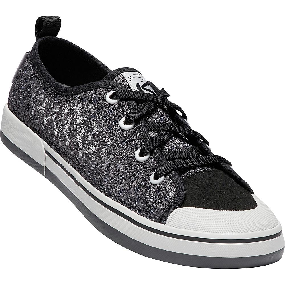 KEEN Womens Elsa II Crochet Sneaker 9 - Magnet/Black - KEEN Womens Footwear - Apparel & Footwear, Women's Footwear