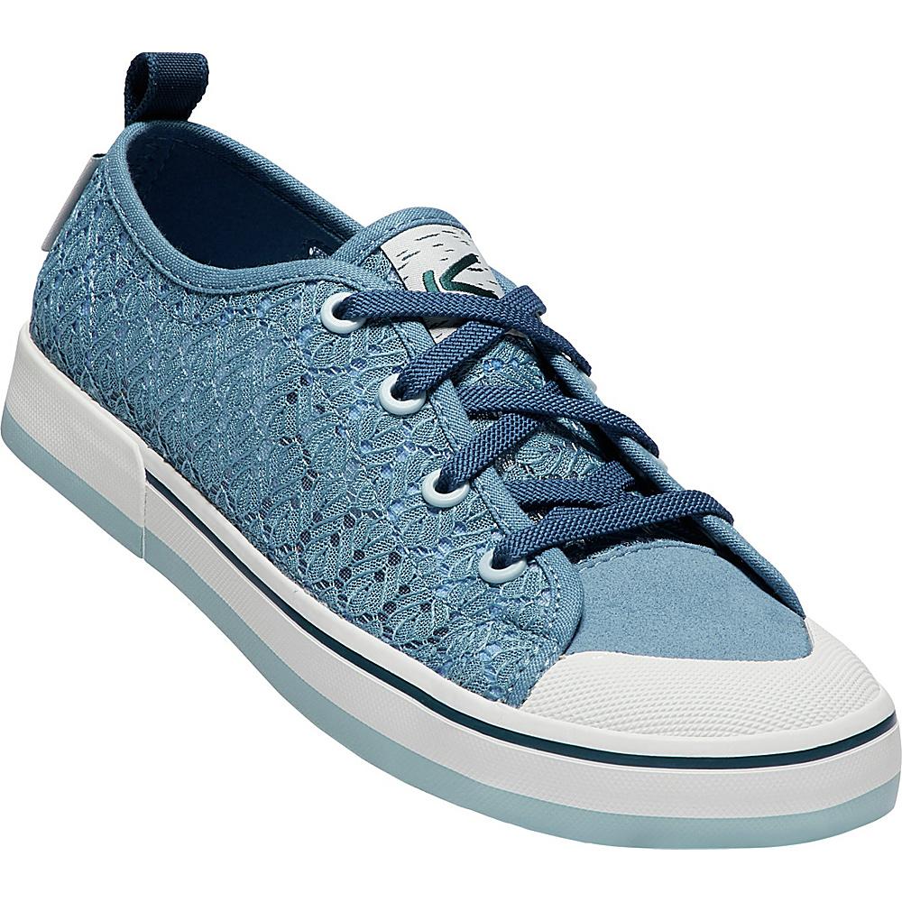 KEEN Womens Elsa II Crochet Sneaker 6 - Provincial Blue/Sterling Blue - KEEN Womens Footwear - Apparel & Footwear, Women's Footwear