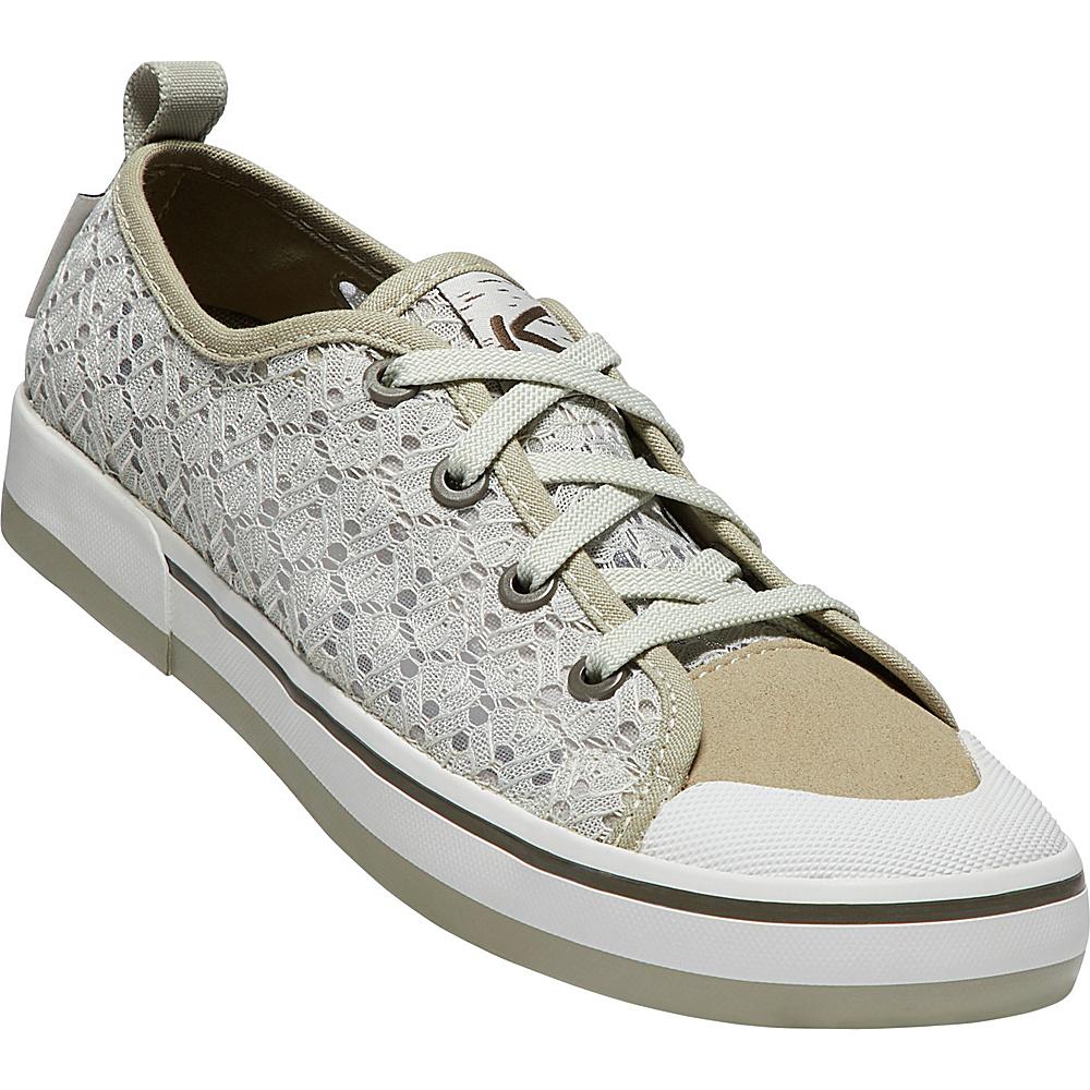 KEEN Womens Elsa II Crochet Sneaker 9 - Silver Birch/Canteen - KEEN Womens Footwear - Apparel & Footwear, Women's Footwear