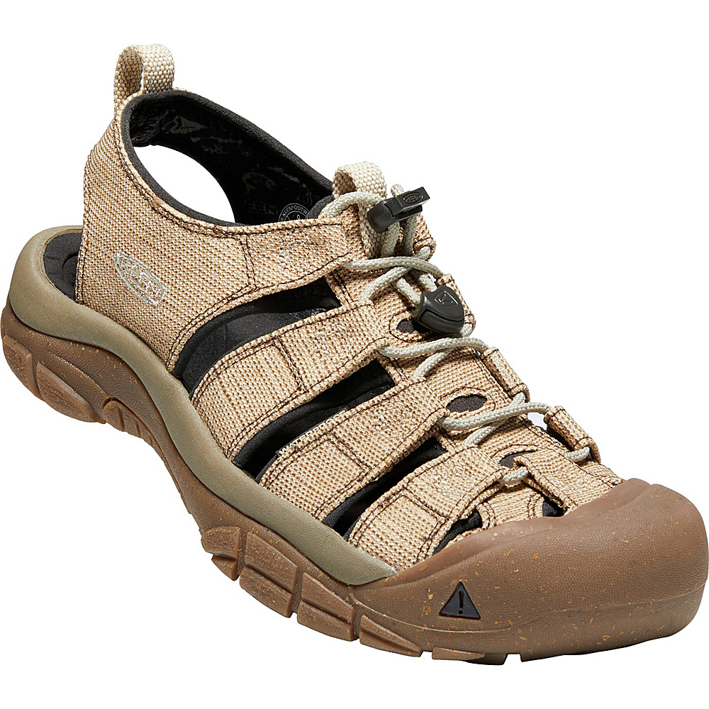 KEEN Mens Newport Retro Sandals 10 - Hemp/Dark Earth - KEEN Mens Footwear - Apparel & Footwear, Men's Footwear