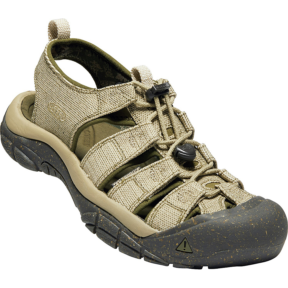 KEEN Mens Newport Retro Sandals 9 - Hemp/Dark Olive - KEEN Mens Footwear - Apparel & Footwear, Men's Footwear
