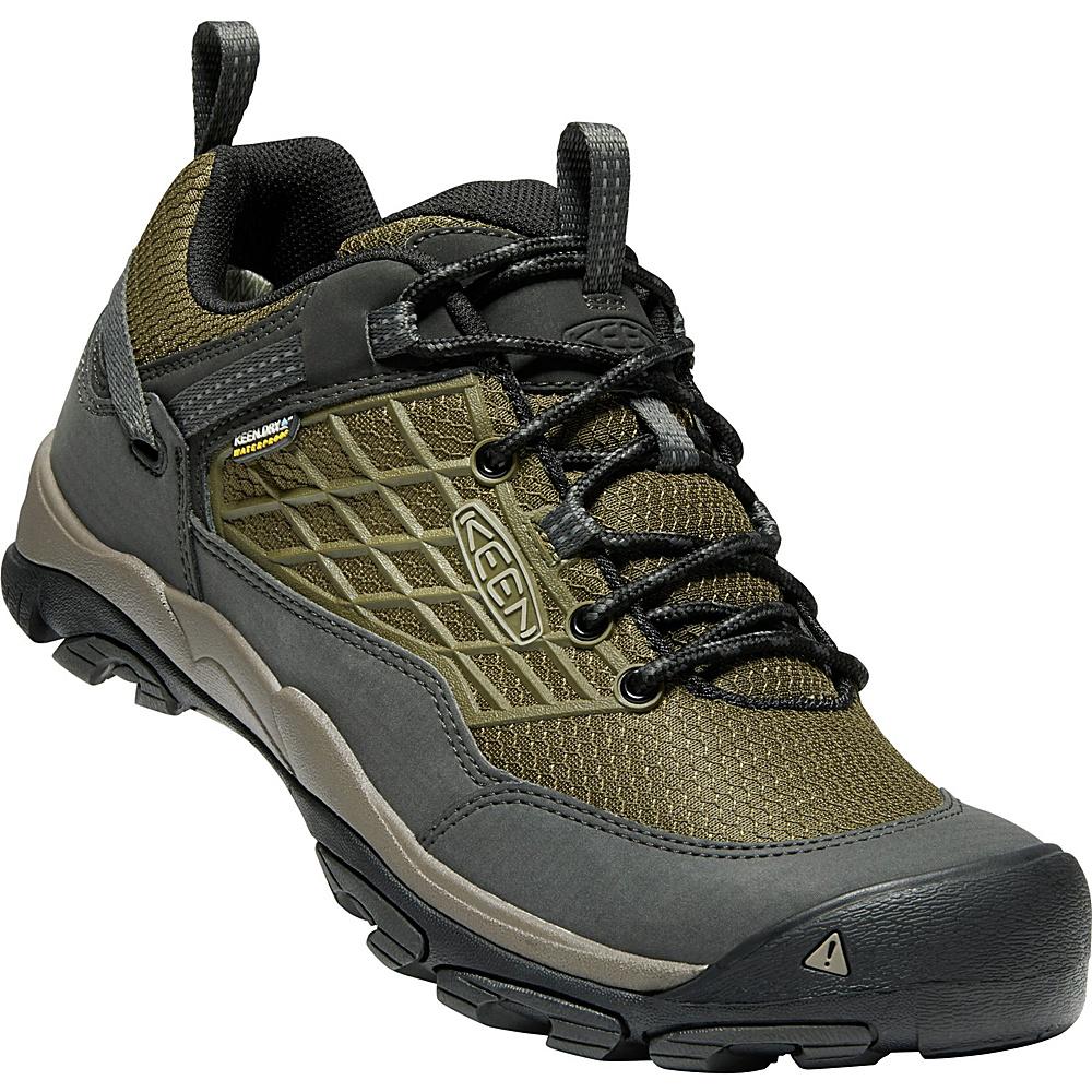 KEEN Mens Saltzman Water-Proof Shoes 13 - Dark Olive/Black - KEEN Mens Footwear - Apparel & Footwear, Men's Footwear
