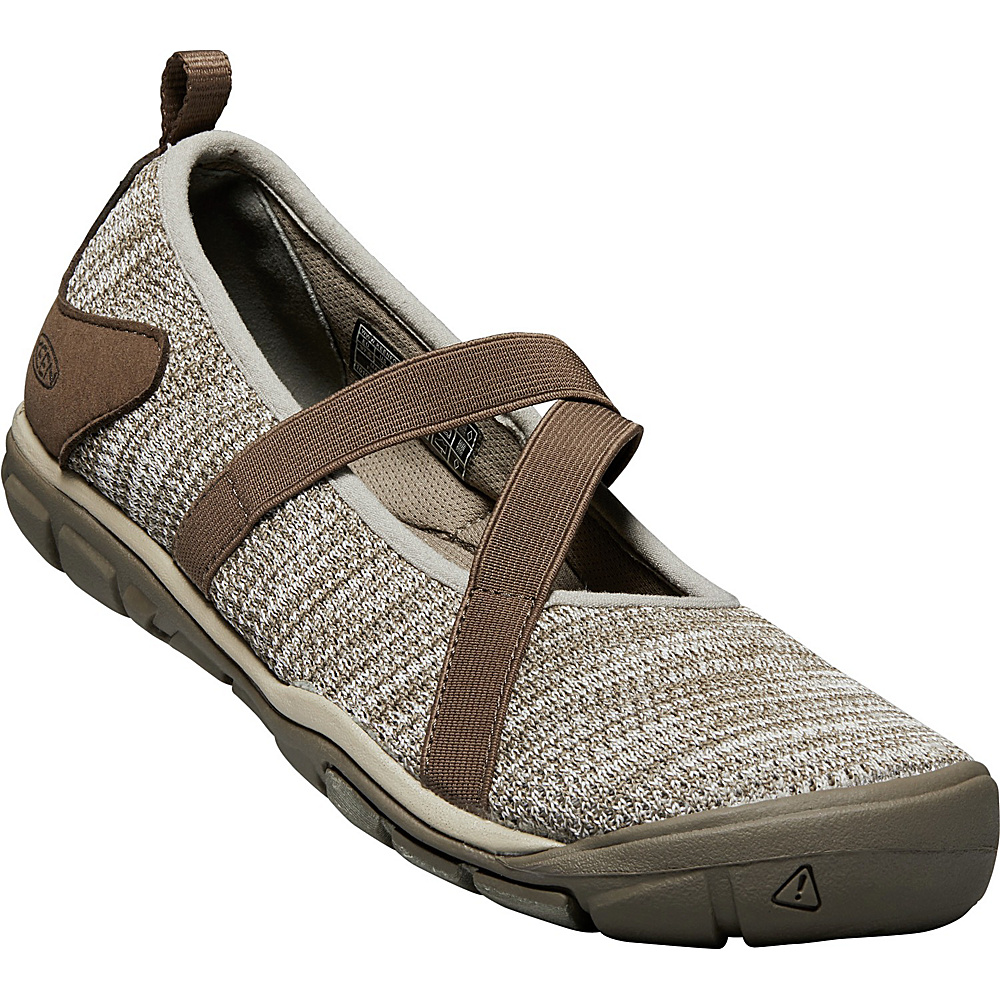 KEEN Womens Hush Knit CNX Mary-Janes 9 - Brindle/Canteen - KEEN Womens Footwear - Apparel & Footwear, Women's Footwear